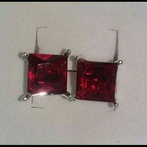 Pure Natural Red Ruby 925 studs